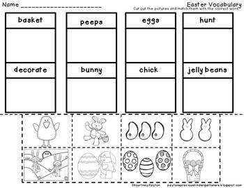 Easter Centers - Math, Literacy & More - Kindergarten