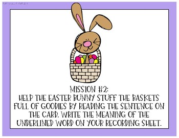 Easter Centers or Hallway Hunt {Mission Movement: Easter Bunny's Assistant}