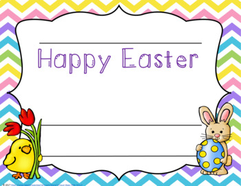 Easter Certificates