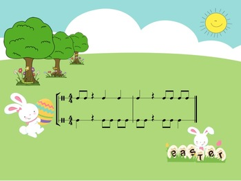 Easter Challenge - A 2 Part Rhythm Game to Practice Ta, Ti-Ti and Z