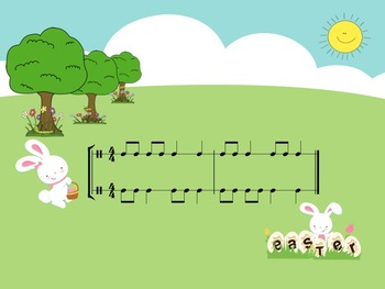 Easter Challenge - A 2 Part Rhythm Game to Practice Ta and Ti-Ti