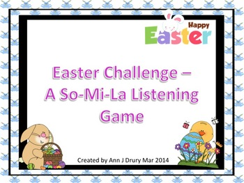 Easter Challenge - A Listening Game to Practice So, Mi and La