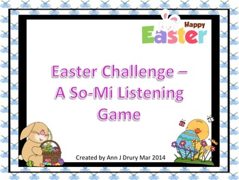 Easter Challenge - A Listening Game to Practice So and Mi