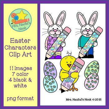 Easter Characters Clip Art