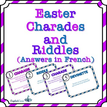 Easter Charades And Riddles (Answers In French)