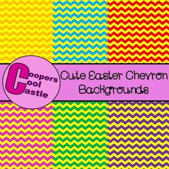 Easter Chevron Background