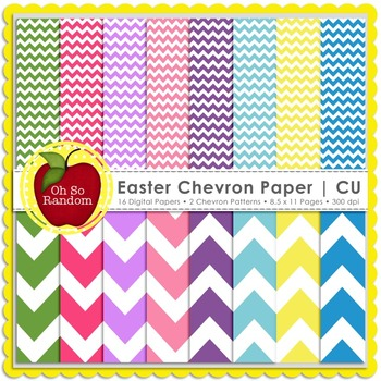 Easter Chevron Digital Paper | CU