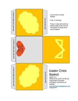 Easter Chick Basket Papercraft