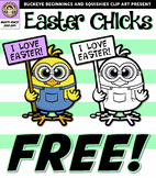 Easter Chick Clipart FREE! {Squishies Clipart}
