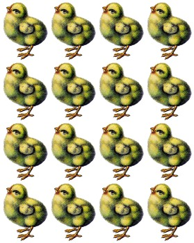 Easter Free, Easter Chick Clipart, Easter Chick Stickers, Easter Sheet