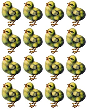 Easter Crafts, Easter Chick Stickers, Easter Chick Clipart, Easter Sheet