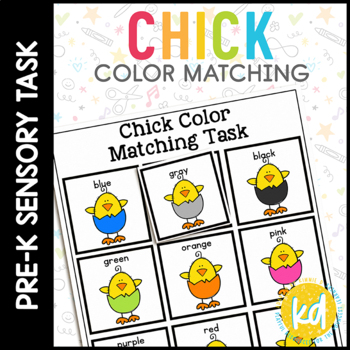 Easter Chick Color Match Folder Game for Early Childhood Special Education