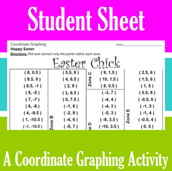 Easter Chick - A Coordinate Graphing Activity