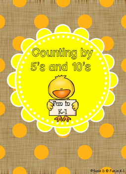 Spring or Easter Math Game - Chick Count by 5 and 10