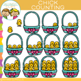 Easter Chick Counting Clip Art