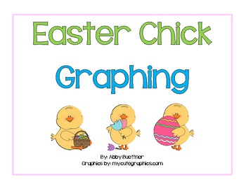 Easter Chick Graphing Math Centers