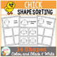 Shape Sorting Mats: Chick Easter
