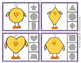 Easter Chick Shapes Clip Cards