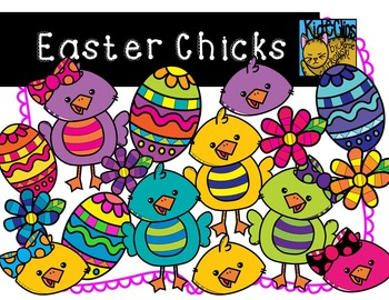 Easter Chick Spring Clip Art by Kid-E-Clips Commercial and