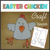 Chicken Craft Template - Cut and Paste