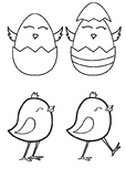 Easter Chickens Clipart