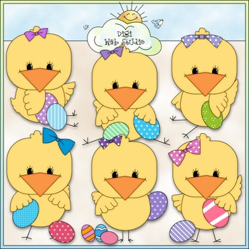 Easter Chicks Clip Art - Easter Clip Art - CU Clip Art & B&W