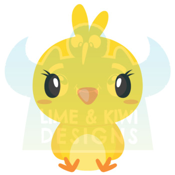Easter Chicks Clipart, Instant Download Vector Art, Commercial Use Clip Art
