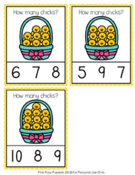 Easter Chicks Count and Clip Cards