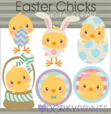 Easter Chicks Digital Clip Art
