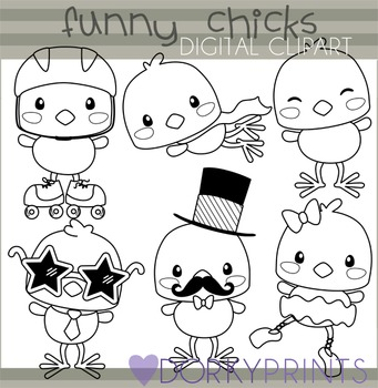 Easter Chicks Digital Clip Art - Spring Clip Art