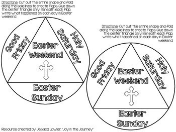 Easter Christian Interactive Notebook Foldables