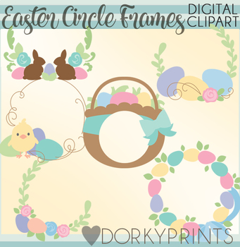 Easter Circle Frames Clipart
