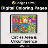Easter: Circles Area & Circumference - Google Forms   Digi