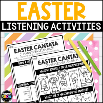 Easter Classical Music Listening Sheets, April, Spring, Bach, Beethoven