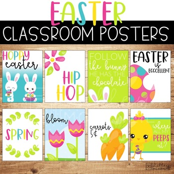Easter Classroom Posters - 5 Minute Bulletin Board!