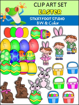 Easter Clip Art (Sticky Foot Studio)