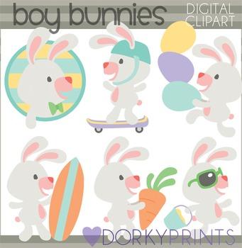 Easter Clip Art - Boy Bunnies