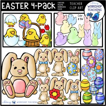 Easter Clip Art Bundle (75 graphics) Whimsy Workshop Teaching