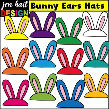 Easter Clip Art {Bunny Ears Hats}