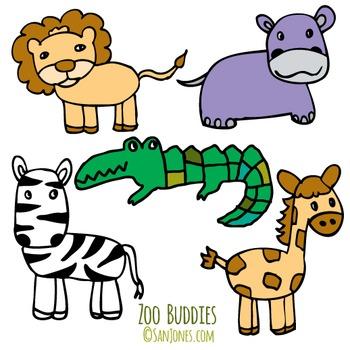 Animal Clip Art - Zoo Clip art - San JonesHand drawn clip art
