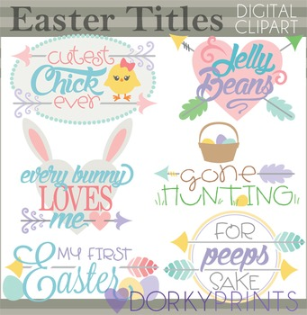 Easter Clip Art - Easter Word Art Titles