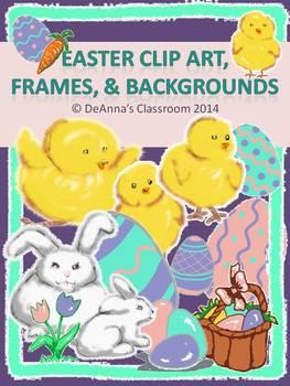 Easter / Spring Clip Art, Frames, & Backgrounds