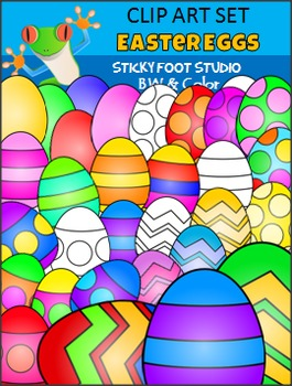 Easter Clip Art Freebie - Easter Eggs