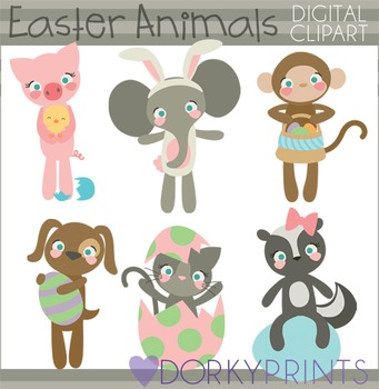 Easter Clip Art - Fun Easter Animals