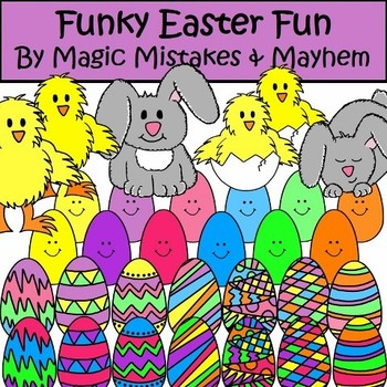 Easter Clip Art Funky Easter Fun by Magic Mistakes and Mayhem