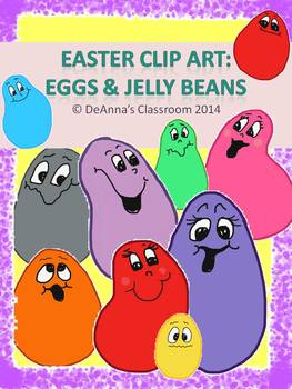 Easter Clip Art: Jelly Beans and Eggs