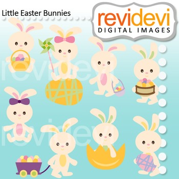 Easter Clip Art / Little Easter Bunnies by Revidevi