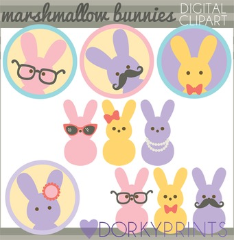 Easter Clip Art - Marshmallow Bunnies