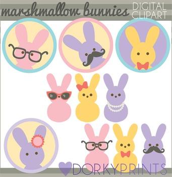Easter Clip Art - Marshmallow Bunnies