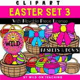 Easter Clip Art Set 3 | Baskets & Bows